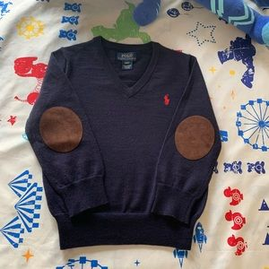 Ralph Lauren toddler boy sweater with elbow patch